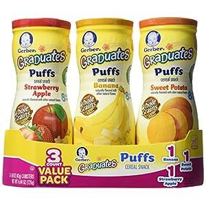 Gerber Graduates Sweet Potato Puffs-3 Pack
