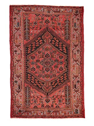Rug Republic One Of A Kind Unique Vintage Persian Village Rug, Salmon/Charcoal/Multi, 4' 3