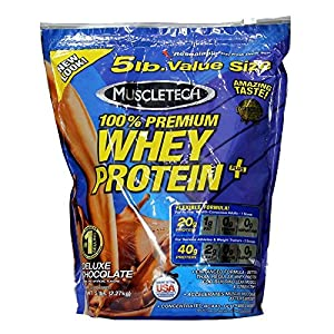 MUSCLETECH 100% PREMIUM WHEY PROTEIN PLUS (New Stock) 5 LBS Deluxe Choclate