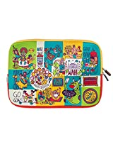 Chumbak  CLAP018-11 11-inch Mad About India Laptop Sleeve (Multicolor)