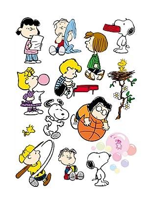 Beiwanda Kids Wandtattoo Großes Snoopy und die Peanuts Set 14-tlg.