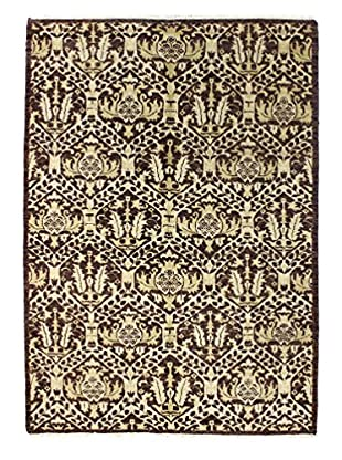 Bashian Rugs One-of-a-Kind Hand Knotted Indo-Oushak Rug, Chocolate, 6' 2