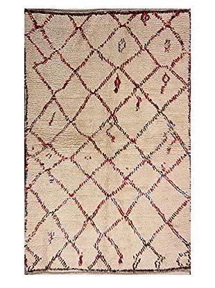nuLOOM One-of-a-Kind Hand-Knotted Evans Berber Shag Rug, Natural, 4' 7