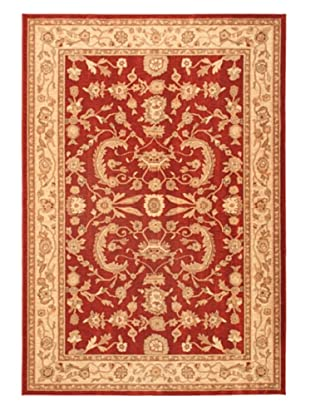 Lotus Garden Traditional Rug, Dark Red, 6' 7