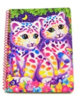 """Lisa Frank Wide Ruled Spiral Notebook ~ Animal Beauty (Colorful Kittens; 8"""" x 10.5""""; 70 Sheets, 140"""