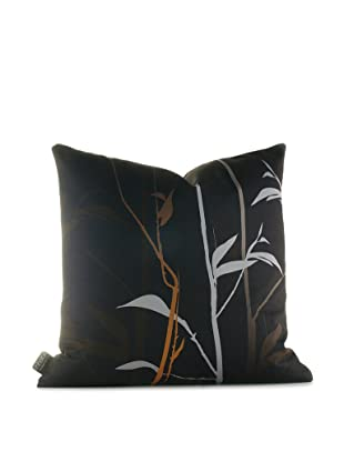 Inhabit Tall Grass Pillow (Charcoal/Rust)