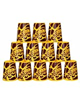 YJ Stacking Cup Speed Flying Rapid Cups 12 Pieces UFO Cups Yellow