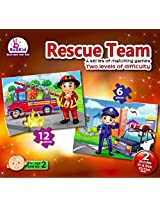 Toddlers Puzzle Games Rescue Team. Two Puzzles In A Box. For 2+ Years Old