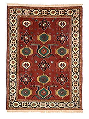 Darya Rugs Persian One-of-a-Kind Rug, Crimson/Ivory, 4' 7