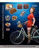Mantis Miniatures 1:35 Pin Up Girl & Accessories For Bicycles Resin Kit #35084