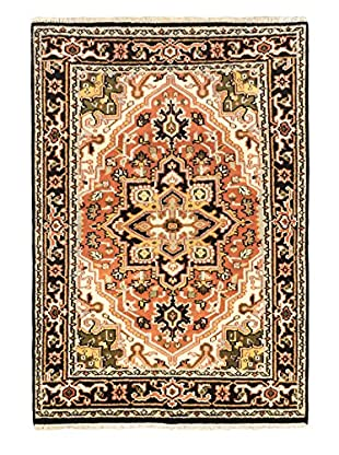 Hand-Knotted Royal Heriz Wool Rug, Copper, 4' x 5' 9