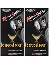 KamaSutra Longlast Condom - 20 Count (Pack of 2)