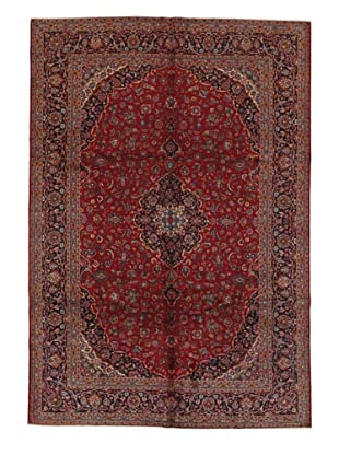 Rug Republic One Of A Kind Persian Kashan Rug, Red/Blue/Antique Ivory/Multi, 9' x 13' 2