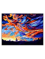 TIA Creation Sky View Canvas 0300 Print on Cotton Canvas 31inch x 22inch
