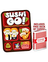 Sushi Go! Card Game With Free Deck Of Brybelly Playing Cards