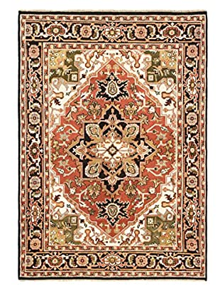 Hand-Knotted Royal Heriz Wool Rug, Copper, 7' 8