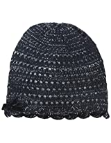 Carter's Baby Girls' Girls' Knit Crochet Hat, Navy, 12 24 Months