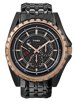 Timex T2N112. Reloj de Señora movimiento de cuarzo con brazalete metálico Negro