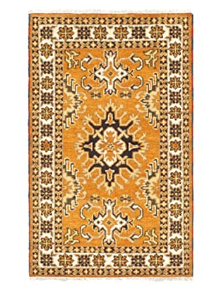 Hand-Knotted Royal Kazak Rug, Light Orange, 3' 2