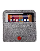 Bear Motion for New Fire 7 Tablet - Premium Felt Sleeve Case for the New Fire 7 (Sept 2015) - Gray