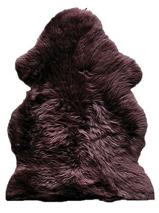 Natural Brand New Zealand Sheepskin Single Rug, Chocolate, 2' x 3'