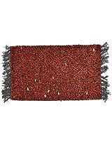 Agra Dari Woolen Rug - 14'' x 24'' x 0.4'', Red