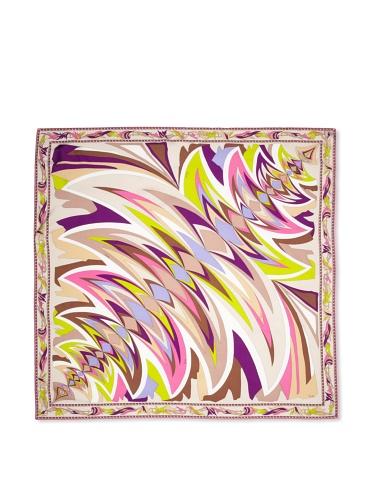 Emilio Pucci Women's Flare Square Scarf (Violet)