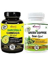 StBotanica Garcinia Cambogia Ultra + Green Coffee Bean Extract- 90 Veg Caps