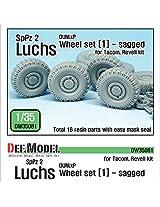 Def Model 1:35 German Luchs 8 X8 Dunlap Sagged Wheel Set 1 Tacom Revell #Dw35081