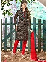 Black and Red New Designer Salwar Suit FA216-1006