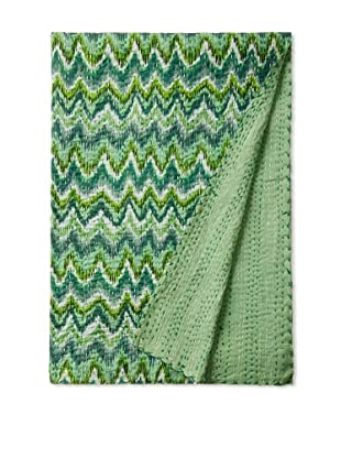 Chevron Bed Cover (Teal/Green)