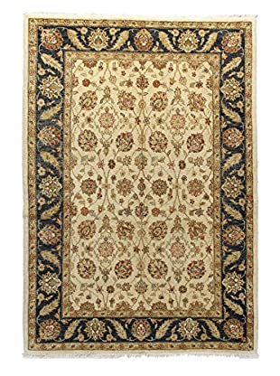 Bashian Rugs One-of-a-Kind Hand Knotted Peshawar Rug, Beige/Dark Blue, 5' x 7'