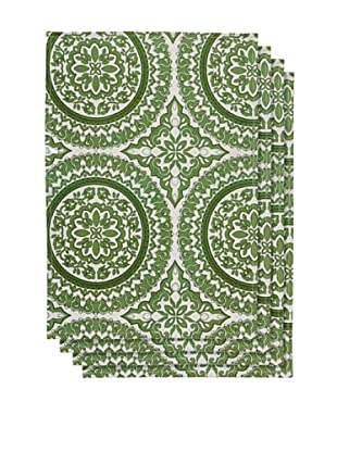 Couleur Nature Set of 4 Medallion Placemats, Green