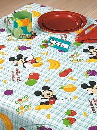 Mantel Rectangular y 6 Marcadores Posición Mickey Mouse 100 x 180