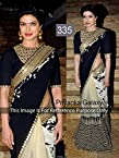 Priyanka Chopra in Sabyasachi Black Saree