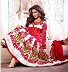 Chitrangada Singh Pink & White Embroidery & Hand work Top Nett & Cotton with Santoon Bottom & Chiffon Dupatta Anarkali Salwar Kameez Suit