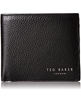 Ted Baker Men's Bifold with Zip Coin Bovine Leather Wallet