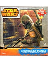 Star Wars Boba Fett 100 Piece Lenticular Puzzle ( 9x 12 Inches) With 3 D Cover