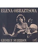 Sviridov:Romances & Songs [Elena Obraztsova; Georgy Sviridov, Vladimir Minin] [MELODIYA: MELCD 1002420]