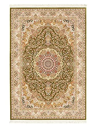Hand Loomed King David Rug, Light Green, 3' 11