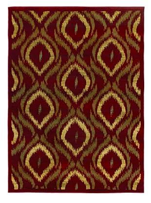 Ikat Modern Rug, Red, 5' 5