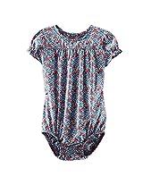 Oshkosh Multi Color Floral Print Short Sleeve Bodysuit - Girls