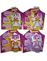 Mini Lalaloopsy Silly Singers Bundle Of 4 Dolls: Jewel Sparkles, Crumbs Sugar Cookie, Peanut Big Top, Pillow Featherbed