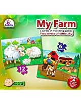 Toddlers Puzzle Games My Farm. Two Puzzles In A Box. For 2+ Years Old