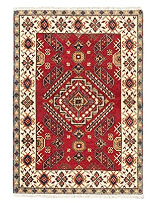 Hand-Knotted Royal Kazak Rug, Red, 4' 1