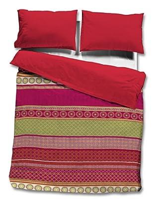 Sunlay Funda Nórdica Estampada (Rojo)