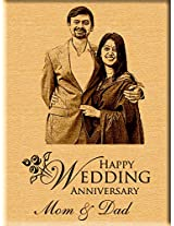 Personalized Wedding Anniversary Gift - Engraved Photo Plaque (7 inches x 5 inches)