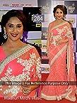 Indian Ethnic Designer Bollywood Party Wear Sarees Sari Traditional Women Wedding Madhuri dixit pink saree