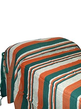 SIGNES DECORA Colcha Rayas (Verde / Naranja)