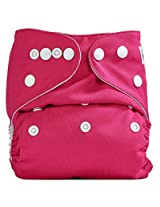 Bumberry Pocket Style Cloth Diaper (Raddish Pink) + One Microfiber Insert